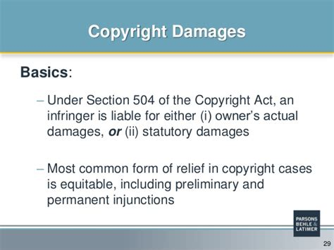 section 504 court cases recent developments in proving damages in intellectual