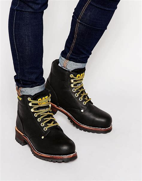cat boots for cat footwear caterpillar sequoia boots at asos
