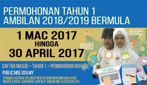 pendaftaran online murid tahun 1 sesi 20172018 pendaftaran murid tahun 1 sesi 2018 2019 seluruh negeri