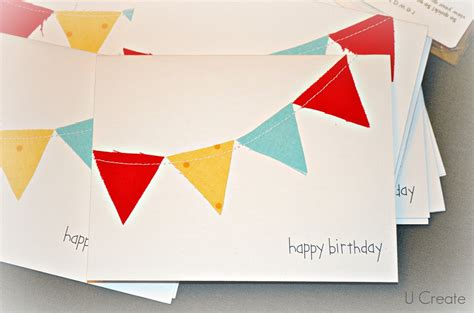 Simple Handmade Birthday Cards - simple handmade cards u create