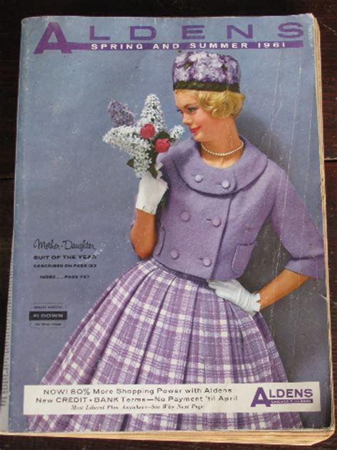 1961 Spring / Summer vintage Aldens big book catalog
