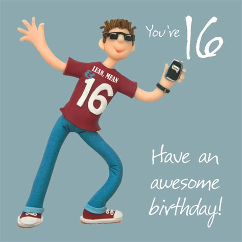 16 Year Boy Birthday Card Boys 16th Birthday Greeting Card Cards Love Kates