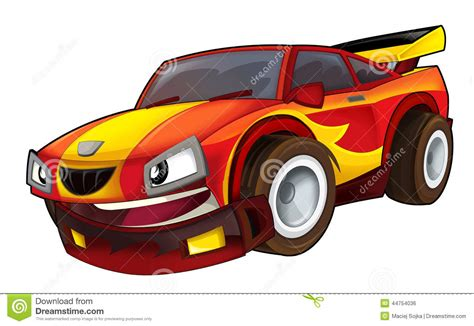 cartoon sports car man driving sports car stock image male models picture