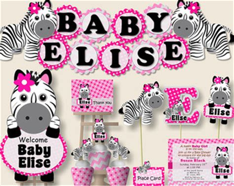 Pink Zebra Print Baby Shower Decorations by Zebra Print Baby Shower Ideas Pink Baby Zebra Baby