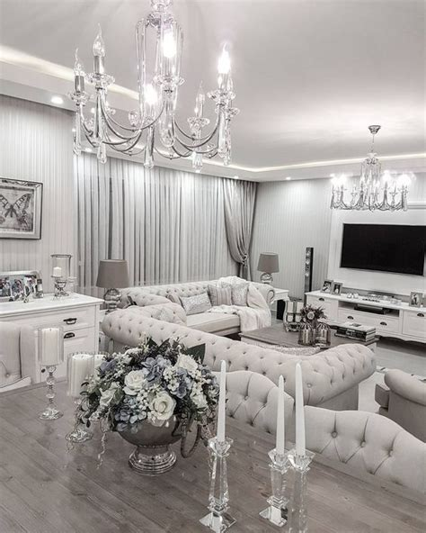 white and silver living room silber vintage shabby chic pinterest silber