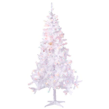 holiday time pre lit 65 madison pine white artificial christmas tree clear lights time 6 5ft pre lit pine artificial tree with 350 multicolored lights
