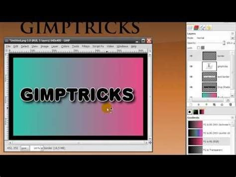 tutorial photoshop untuk beginner gimp basics introduction beginner tutorial exercise