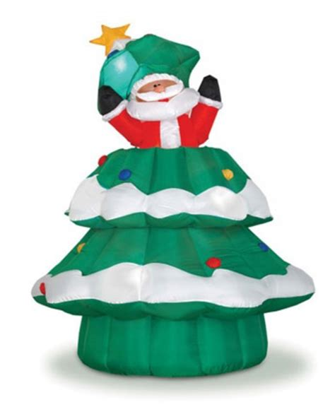 yolloy family christmas inflatable tree decoration with