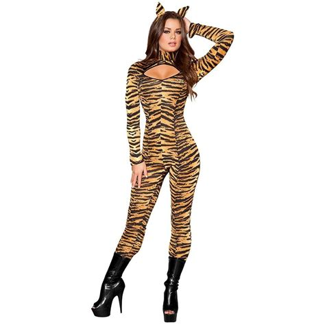 tiger costume tiger costume for cat suit fancy dress ebay
