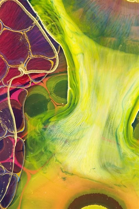acrylic painting with resin layered resin and paint blend in strikingly psychedelic