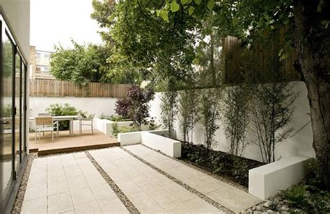 modern small backyard garden decorating a modern landscape in home backyard