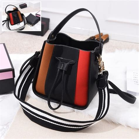 Tas Fashion Wanita Impor Tas Serut Dompet 2 In 1 Import Korea jual b8092 black tas serut fashion elegan grosirimpor