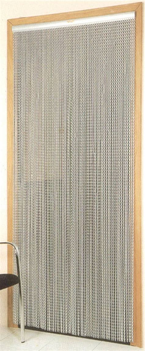 chain link door fly screen aluminium insect curtain