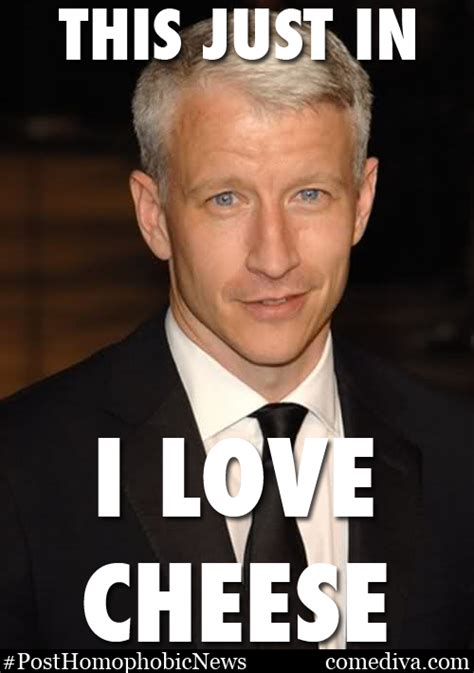 Anderson Meme - this just in anderson cooper likes cheese comediva