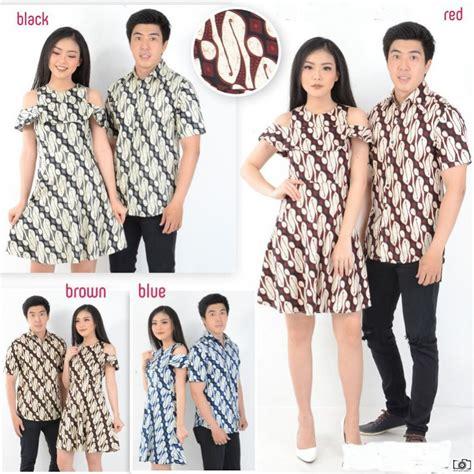 470 Kemeja Batik Kode Bj35 jual baju batik dress pesta motif parang unik