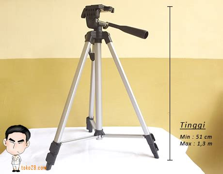 Tripod Hp Tinggi Tripod Kamera Dslr Tinggi 1 3m Berat 765gr Kapasitas 3kg