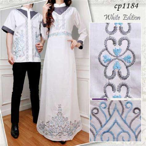 Cp Fitri Tosca baju gamis cp1184 white busana muslim lebaran