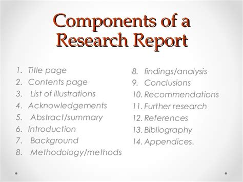 what are the components of a research paper 10 components of a research paper hintsinspection ga