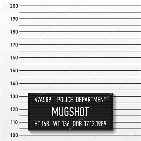 mugshot card template mugshot template stock vector 169 alhovik 111811180