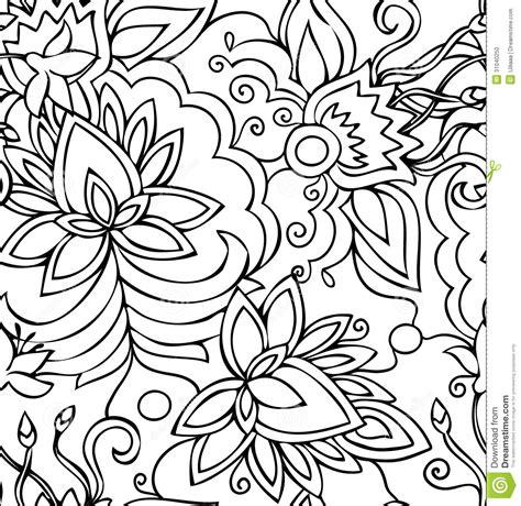 fiori disegnati da bambini fiori disegnati a mano astratti senza cuciture modello