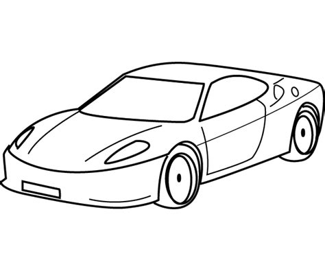 cartoon sports car black and white drawing sports car coloring child coloring