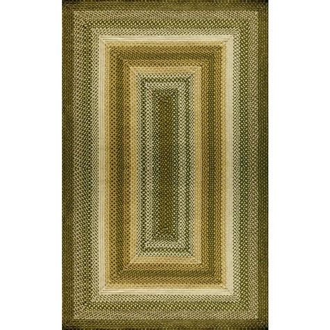 lowes braided rugs shop style selections braided rug rectangular green geometric indoor outdoor braided area rug
