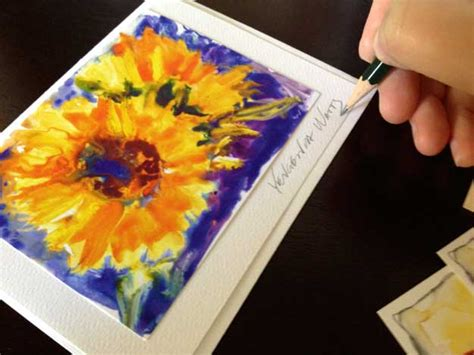 how to make artist card how to make greeting cards with your by yevgenia