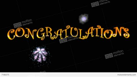 Wedding Congratulations Animation by Congratulations With Fireworks Stock Animation 7186075