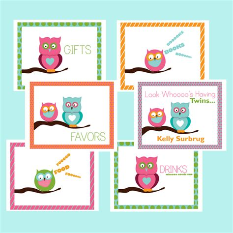 printable owl goodie bag printable owl favor treat bag toppers summer days owl