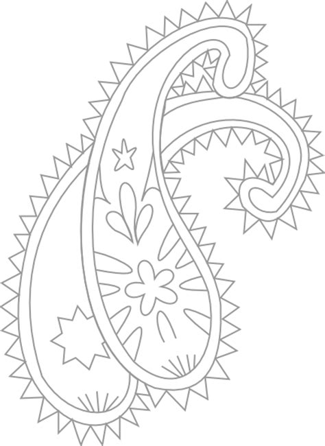 paisley pattern png paisley pattern silver clip art at clker com vector clip
