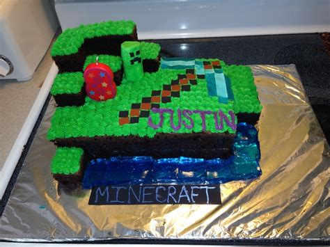 How To Decorate A Minecraft Cake by Minecraft Cake Cake Decorating Ideas