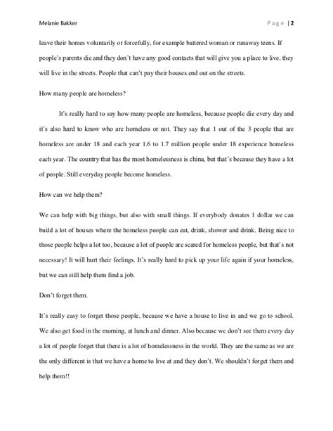 Homelessness Essay by Research Paper Homelessness