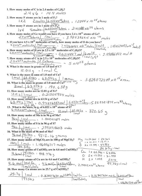 mole gram atom conversion worksheet worksheet moles molecules and grams worksheet caytailoc free printables worksheets for students