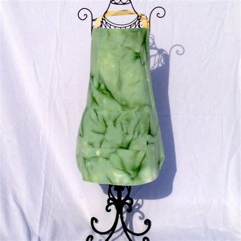 Apron Batik Green green batik apron size m