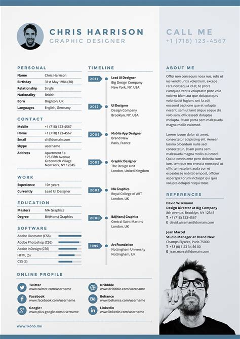 Creative Resume Ideas by 17 Best Ideas About Creative Cv Template On