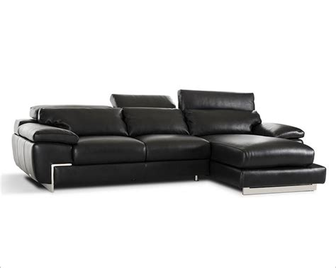 contemporary black leather sectional sofa contemporary black full leather sectional sofa 44l5961