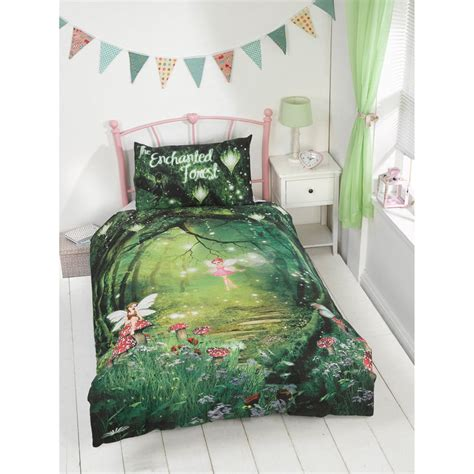 forest bed set kids glow in the dark single duvet set enchanted forest