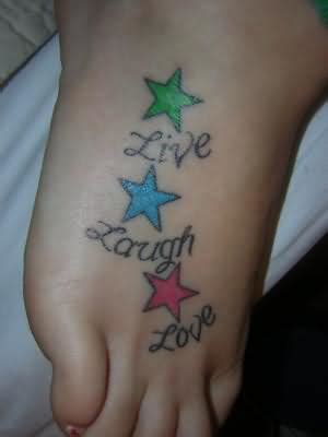 live laugh love tattoo designs live laugh on foot