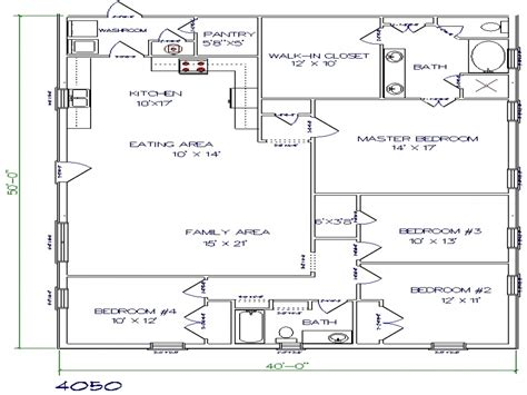 Texas Barndominium Floor Plans 40x50 Metal Building House | texas barndominium floor plans 40x50 metal building house