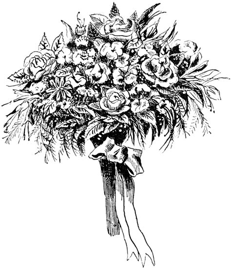 black and white flower bouquet clip art free vintage digital stamps free digital st