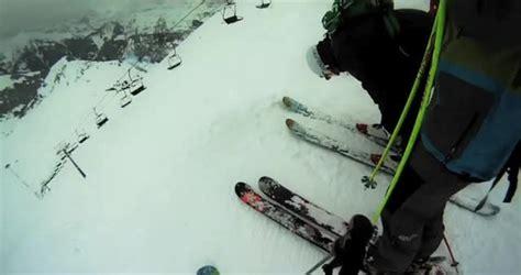 vidéo de skizi vid 233 o le mur suisse en premi 232 re trace c est pas tous les