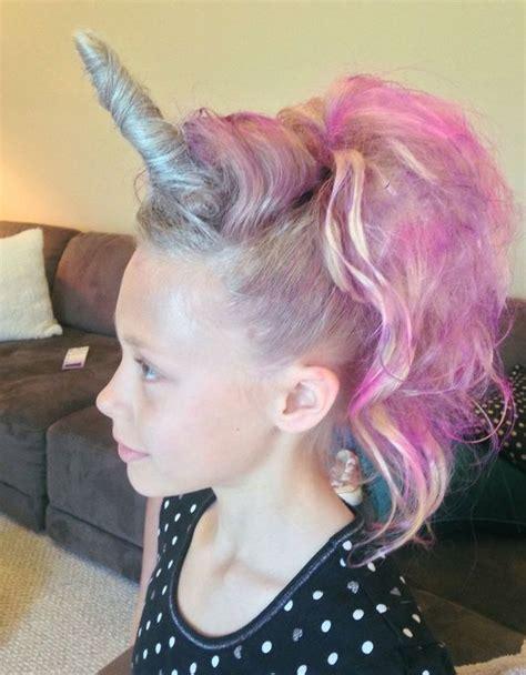 perfect for vbs crazy hair day for hadley bear someday 10 divertidos peinados para halloween unicornio rosa