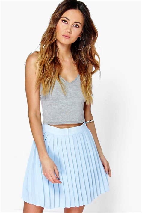 Pleated Chiffon Mini Skirt boohoo womens cate chiffon pleated mini skirt ebay