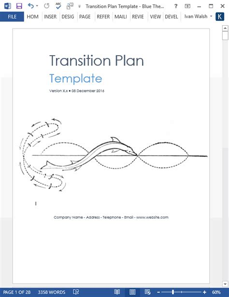software project transition plan template transition plan template technical writing tips