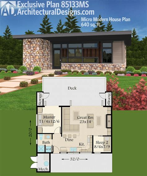 tiny modern house plans plan 85133ms exclusive tiny modern house plan with