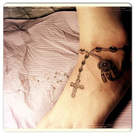 what to add to a cross tattoo ankle charm bracelet catcher and cross adding more