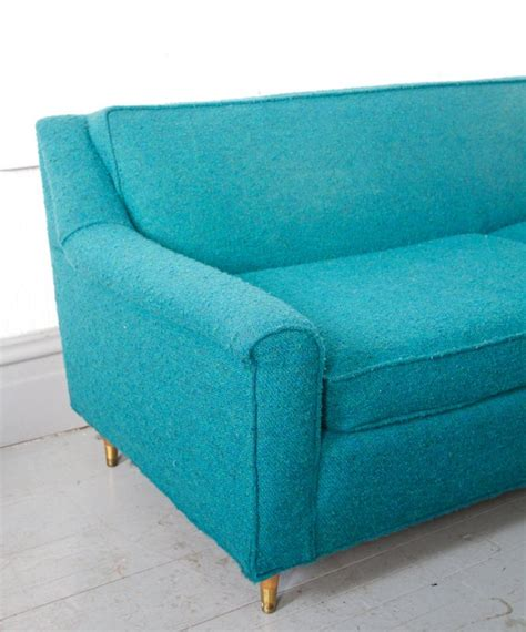Grey And Teal Sofa Mid Century Modern Teal Turquoise Sofa Would Be In My Room I Still Dont Lol