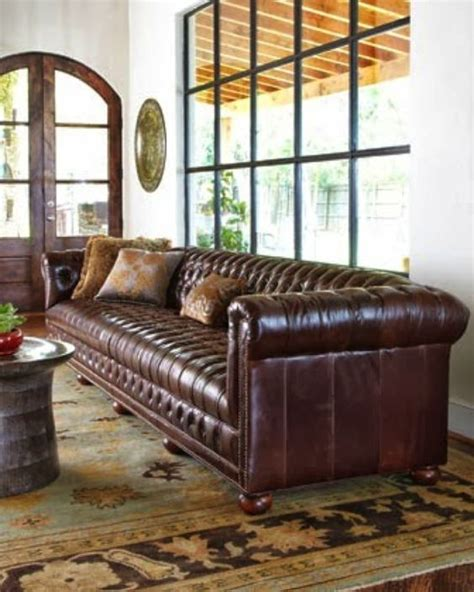 Chesterfield Sofa Cushions Chesterfield Sofa All Tufted No Cushions Big Leather Could Be Velvet Or Denim