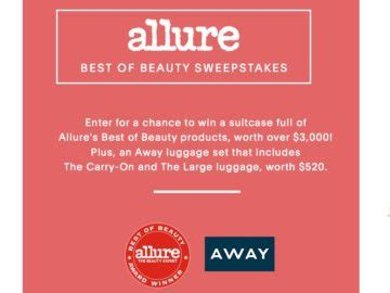Best Sweepstakes 2017 - allure s best of beauty 2017 sweepstakes