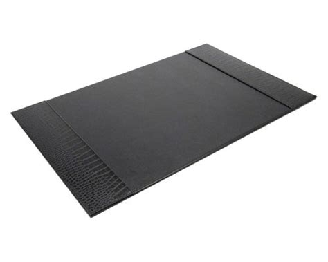 Faux Leather Desk Mat by Faux Leather Desk Pad Black In Desk Accessories